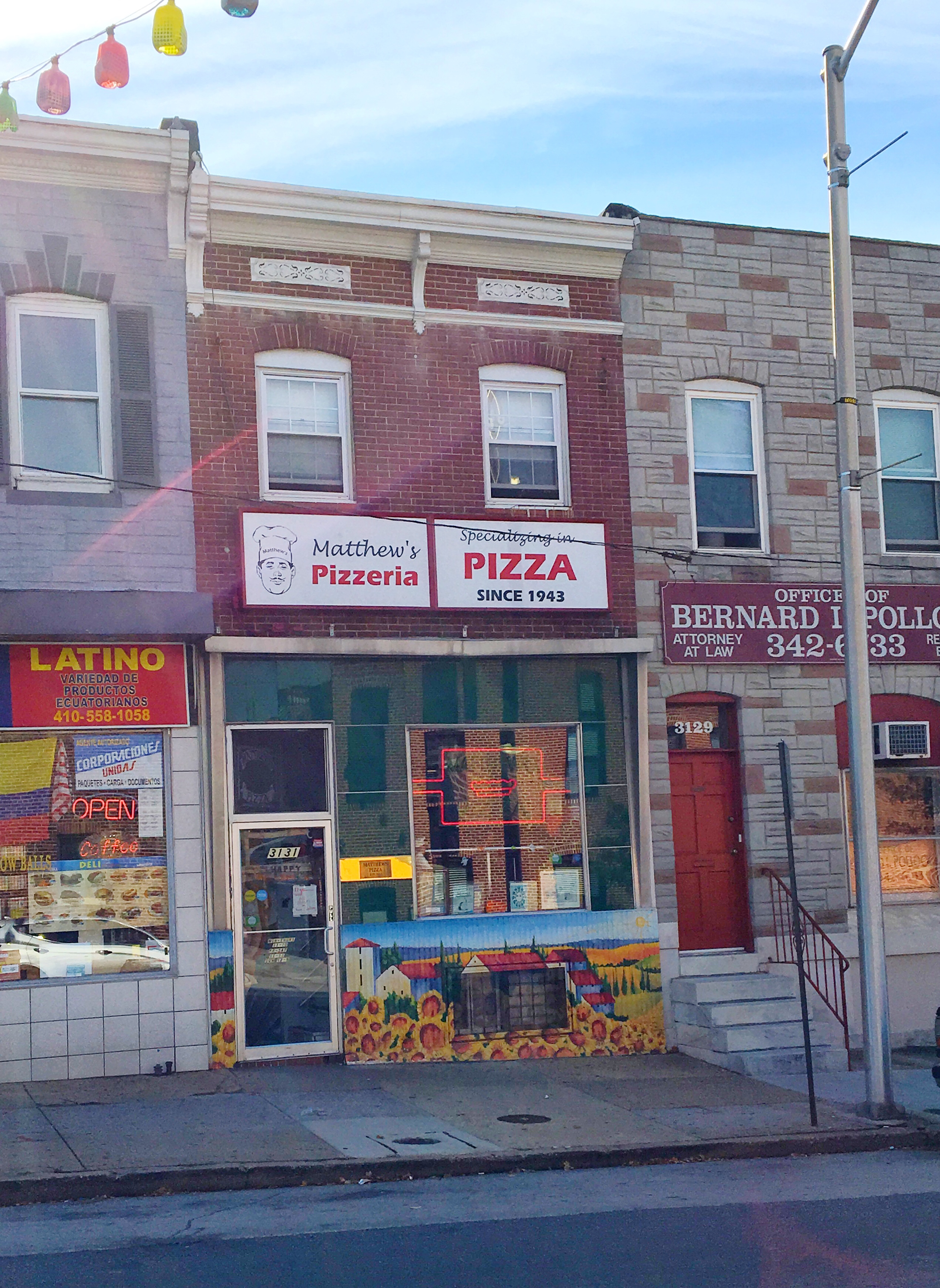 Highlandtown: Matthew's Pizza - Like the Tea EATS